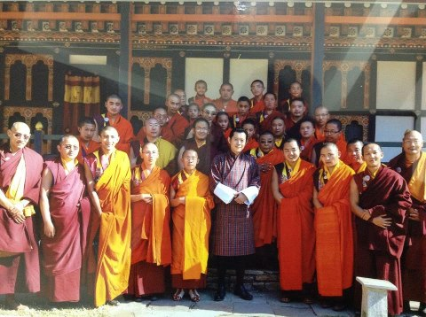 His Majesty the 5th King with Bhutanese Tulkus and Masters
