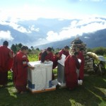 Some of the monks have never seen a washing machine