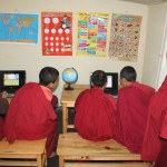 Donated new laptops have the monks glued to the screen