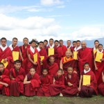 Tsuglag Rinpoche awards the Shedra certificates