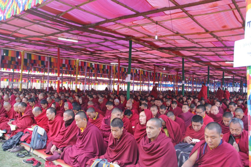 A sea of monks