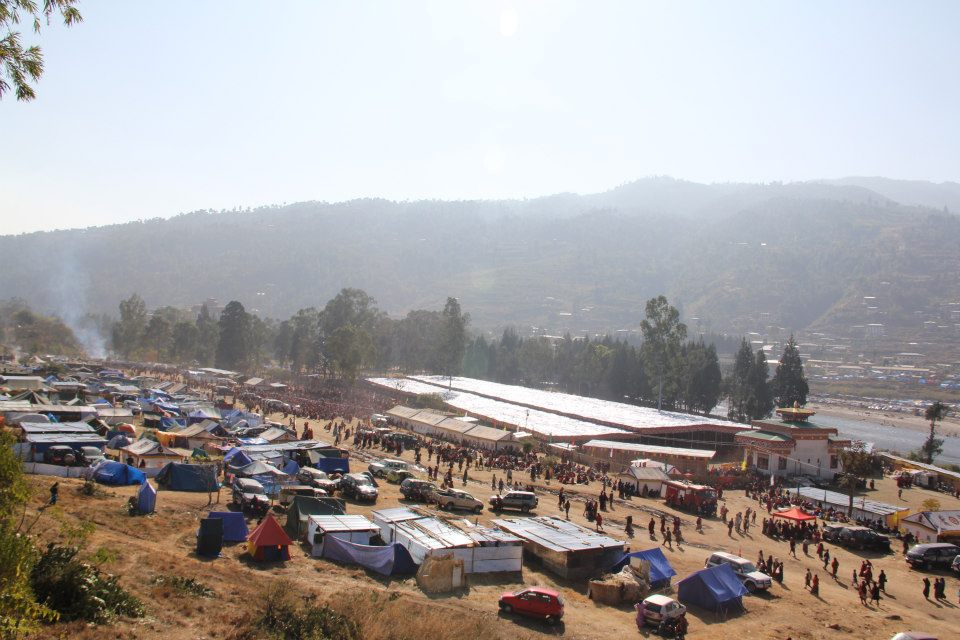 People from all over Bhutan and the world descended on Punakha