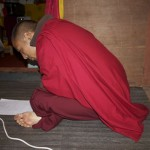 Balancing the limited budget causes endless stress for Lama Namgay and Khenpo Chimi Dorji