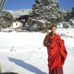 Lama Namgay all rugged up