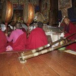 Lama Namgay leads the puja