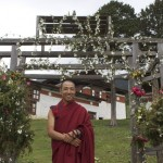 Lama Namgay looking very happy
