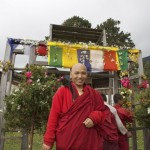 Khenpo Chimi Dorji looking very happy