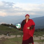 Khenpo likes football too
