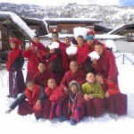 Some of the Phajoding monks with Lama Namgay