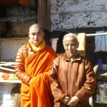 Gyalwa Shakya Rinchen tulku with Yanglop (the high lama of Phajoding)