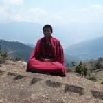 A Phajoding monk meditating